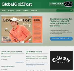 Global Golf Post Home Page Concept