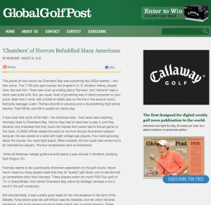 Global Golf Post Sub-Page Concept