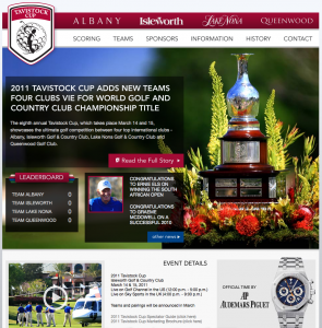 Tavistock Cup Home Page Screen Shot