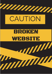 broken website