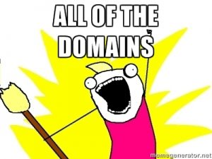 Wait before your purchase all kinds of different domains.