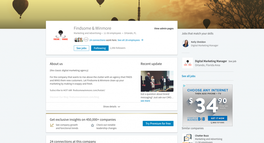 New LinkedIn Layout