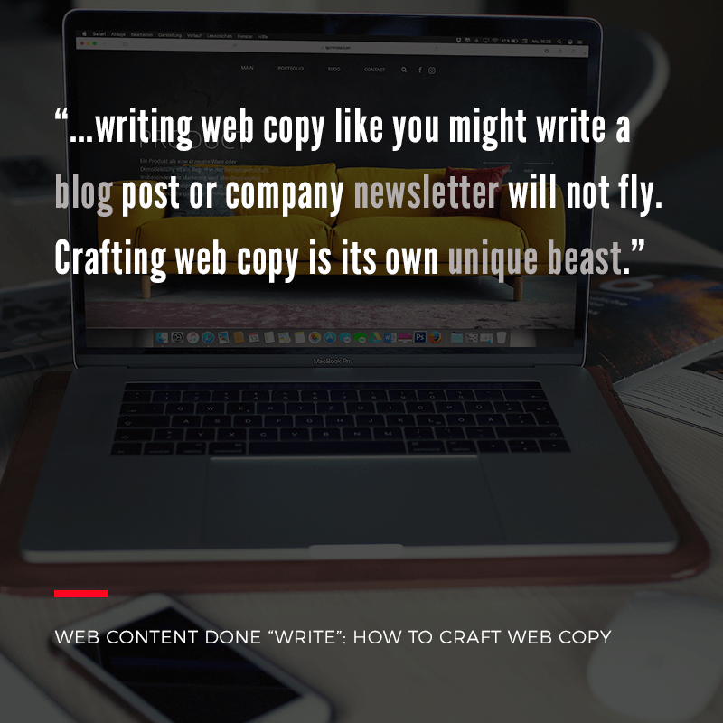 How to Craft Web Copy