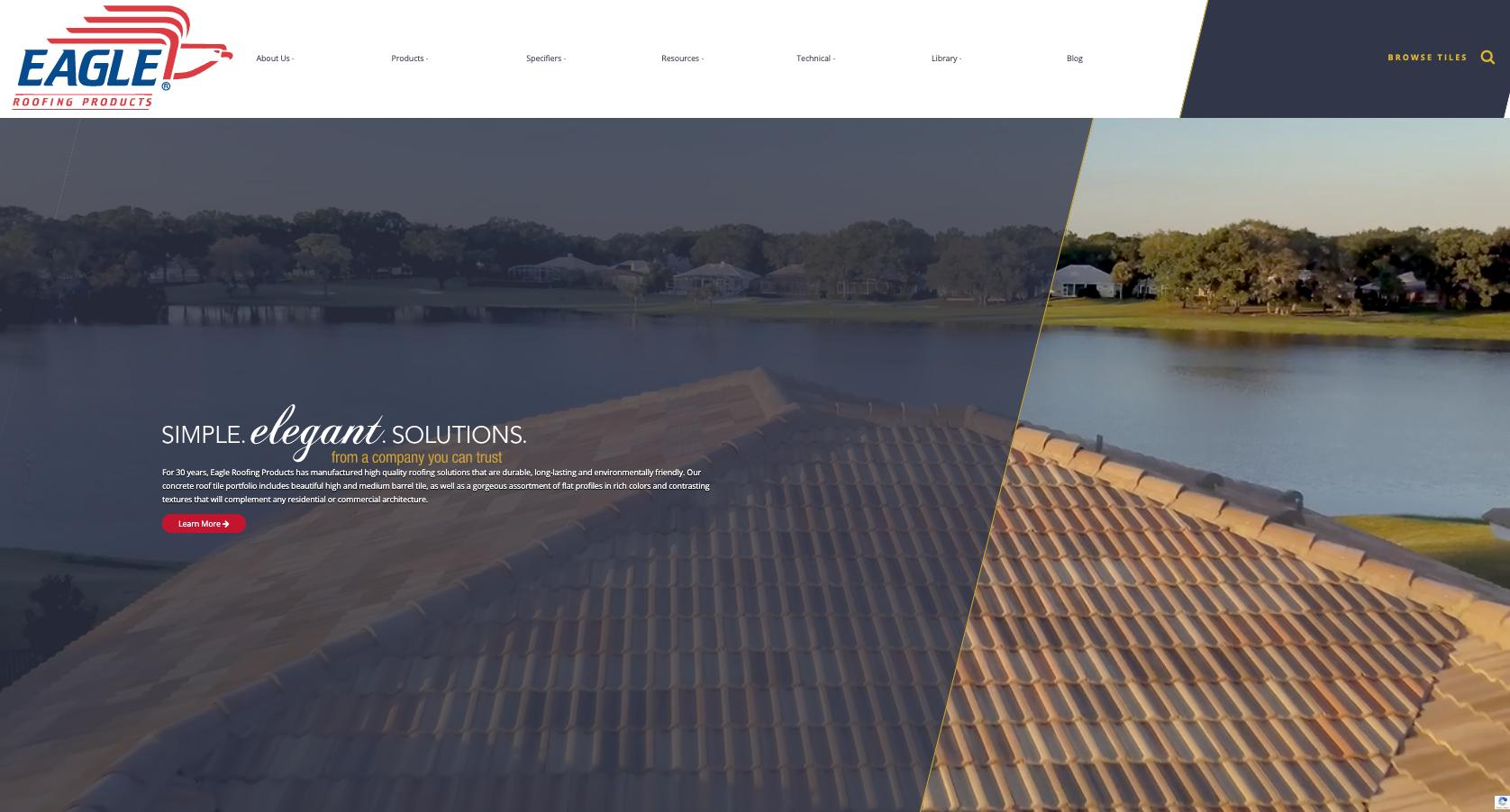 Eagle Roofing Products New Website Findsome Winmore